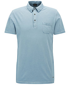 BOSS Men's Regular/Classic-Fit Garment-Dyed Cotton Polo