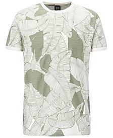 BOSS Men's Leaf-Print Cotton T-Shirt