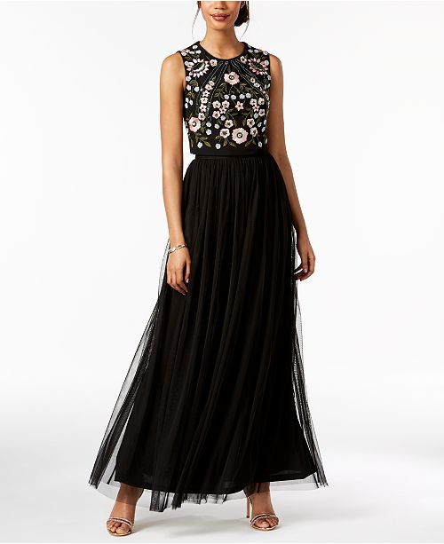 Multi Papell Embellished 2 Adrianna Black Pc Gown 1dYt7qn5w