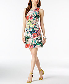 Adrianna Papell Floral-Print Sheath Dress