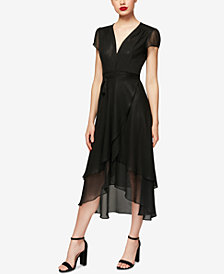 Betsey Johnson High-Low Wrap Dress