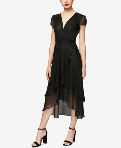 Betsey Johnson High-Low Wrap Dress