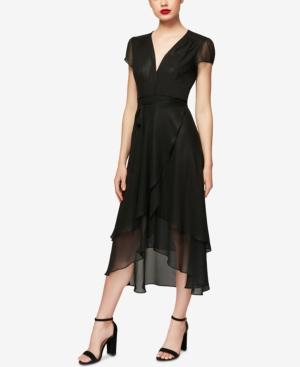 1930s Style Dresses | 30s Art Deco Dress Betsey Johnson High-Low Wrap Dress $107.99 AT vintagedancer.com