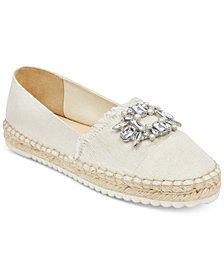 Marc Fisher Barnum Jeweled Espadrille Flats