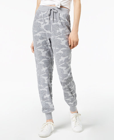 Jessica Simpson The Warm Up Juniors' Burnout Terry Jogger Pants