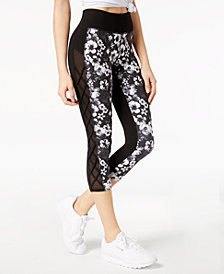 Jessica Simpson TheWarmUp Juniors' Mesh-Inset Leggings