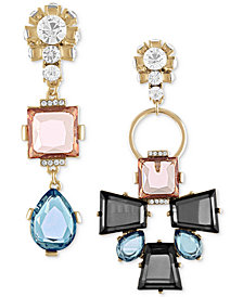 RACHEL Rachel Roy Gold-Tone Stone & Crystal Mismatch Earrings