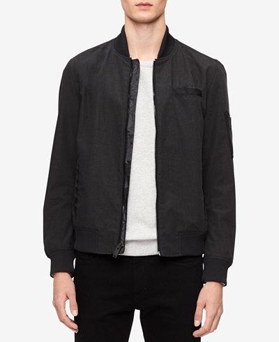 Calvin Klein Jeans Men's Classic-Fit Full-Zip Bomber Jacket