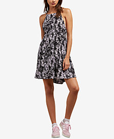 Volcom Juniors' Sidesnaked Printed Crisscross Sundress