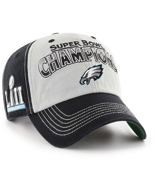 f0f2bbe5a2b87a ... '47 Brand Philadelphia Eagles Super Bowl LII Secondary Champ CLEAN UP  Cap; ' ...