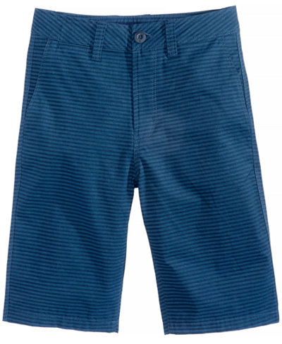 Univibe Bartolo Stripe Cotton Shorts, Big Boys