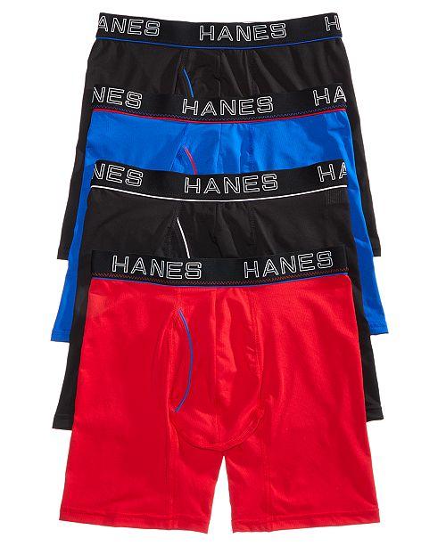 6530373afcce Hanes Men's 4-Pk. Platinum Comfort Flex Fit® Boxer Briefs & Reviews ...