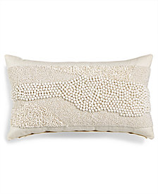 "Lacourte Nahtrang 12"" x 20"" Beaded Decorative Pillow, Created for Macy's"