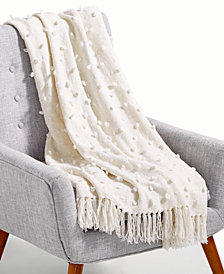 "LAST ACT! Lacourte Alpine 50"" x 60"" Tufted Chenille Throw, Created for Macy's"
