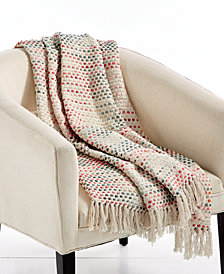 "Lacourte Porter 50"" x 60"" Textured Throw, Created for Macy's"