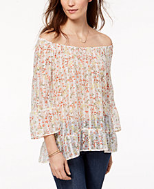 Style & Co Ruffled Off-The-Shoulder Top, Created for Macy's