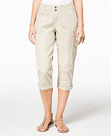 Style & Co Cropped Cargo Pants, Created for Macy's