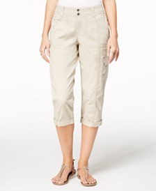 Style & Co Petite Cargo Capris, Created for Macy's