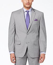 Sean John Men's Classic-Fit Stretch Gray Stripe Suit Jacket
