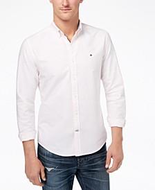 Men's New England Stripe Custom-Fit Shirt, Created for Macy's