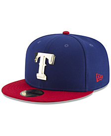 New Era Texas Rangers Golden Finish 59FIFTY Fitted Cap