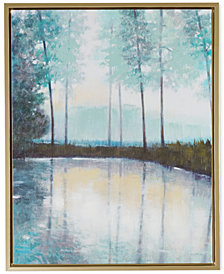 Madison Park Serene Setting Hand-Embellished Framed Print