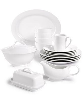 main image  sc 1 st  Macyu0027s & Martha Stewart Collection Whiteware Dinnerware Collection ...