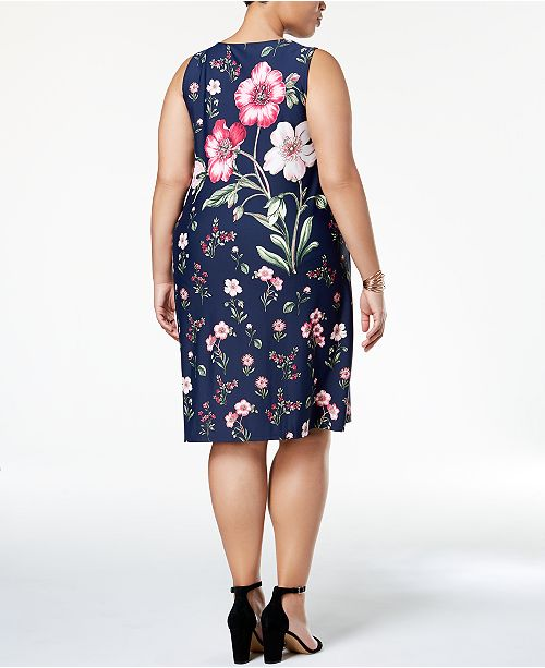 Charter Club Plus Size Floral Print Sheath Dress Created For Macys