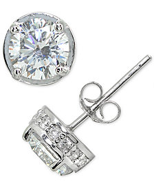 Giani Bernini Cubic Zirconia Stud Earring in Sterling Silver, Only at Macy's