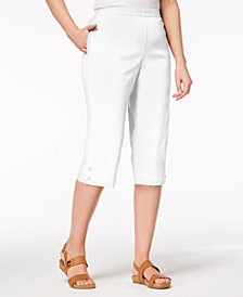 Alfred Dunner Sun City Pull-On Capri Pants