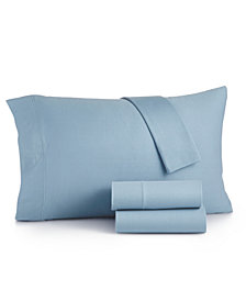 Martha Stewart Essentials Jersey 3-Pc. Twin XL Sheet Set, Created for Macy's