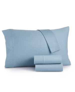 Image of Martha Stewart Essentials Jersey 3-Pc. Twin Sheet Set, Created for Macy's Bedding