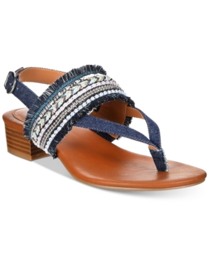 Style & Co Marxie Block-Heel Sandals, Created For Macy's Women's Shoes