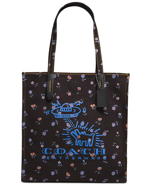 5453a6c5a828 COACH Keith Haring UFO Dog KI Tote   Reviews - Handbags ...