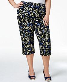 Karen Scott Plus Size Printed Capri Pants, Created for Macy's