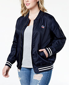 Levi's® Plus Size Satin Bomber Jacket