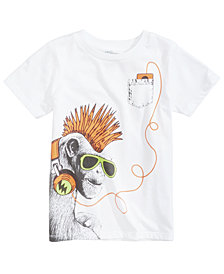 Epic Thread Monkey Music Graphic-Print T-Shirt, Little Boys, Created for Macy's