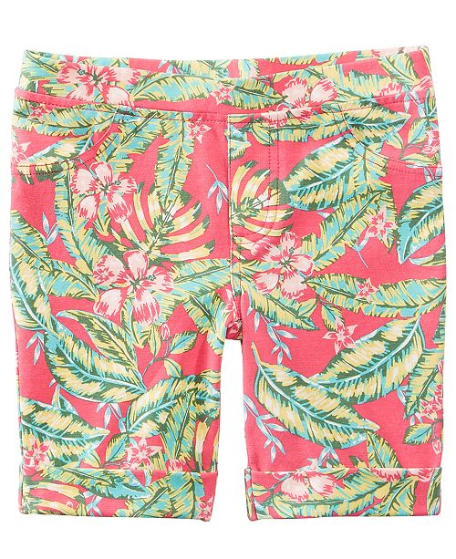Epic Threads Tropical-Print Bermuda Shorts, Toddler Girls, Created for Macy's