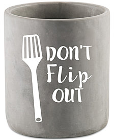 Home Essentials 'Don't Flip Out' Cement Utensil Crock