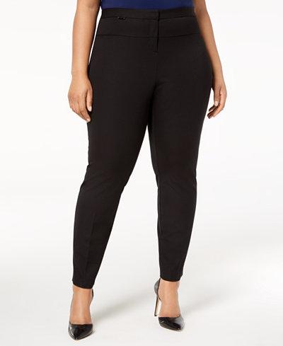 Alfani Plus Size High-Rise Skinny Pants, Created for Macy's