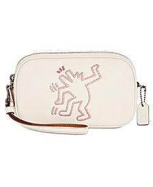 COACH Keith Haring Flitter Motif Crossbody Clutch