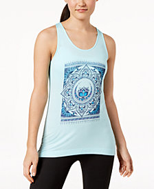 Gaiam Fiona Multi-Mandala Keyhole-Back Tank Top