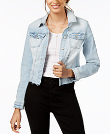 Celebrity Pink Juniors' Ripped Denim Jacket