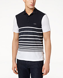 A|X Armani Exchange Men's Multi-Striped Polo, Created for Macy's