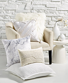 Lacourte Glam Whites Decorative Pillow Collection, Created for Macy's