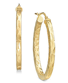 Giani Bernini Textured Hoop Earrings, Created for Macy's