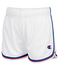 Champion Heritage Mesh Fold-Over Shorts, Little Girls