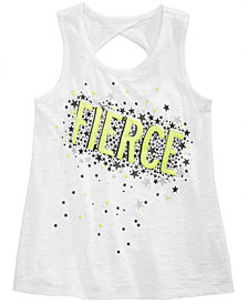 Ideology Graphic-Print Cutout-Back Tank Top, Toddler Girls, Created for Macy's