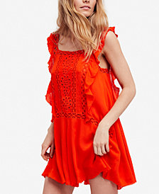 Free People Priscilla Ruffled Crochet-Trim Dress