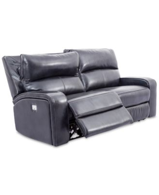 "CLOSEOUT! Brant 80"" 2-Pc. Leather Power Reclining Sofa With 2 Power Recliners, Power Headrests And USB Power Outlet"